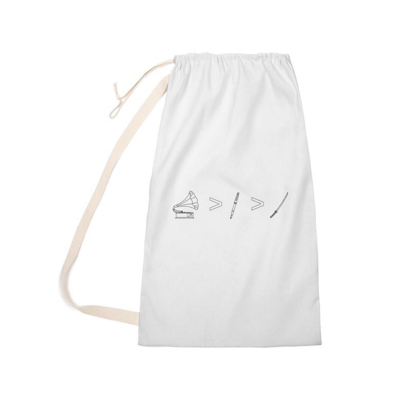 Greater Than Accessories Laundry Bag Bag by lightclub's Artist Shop