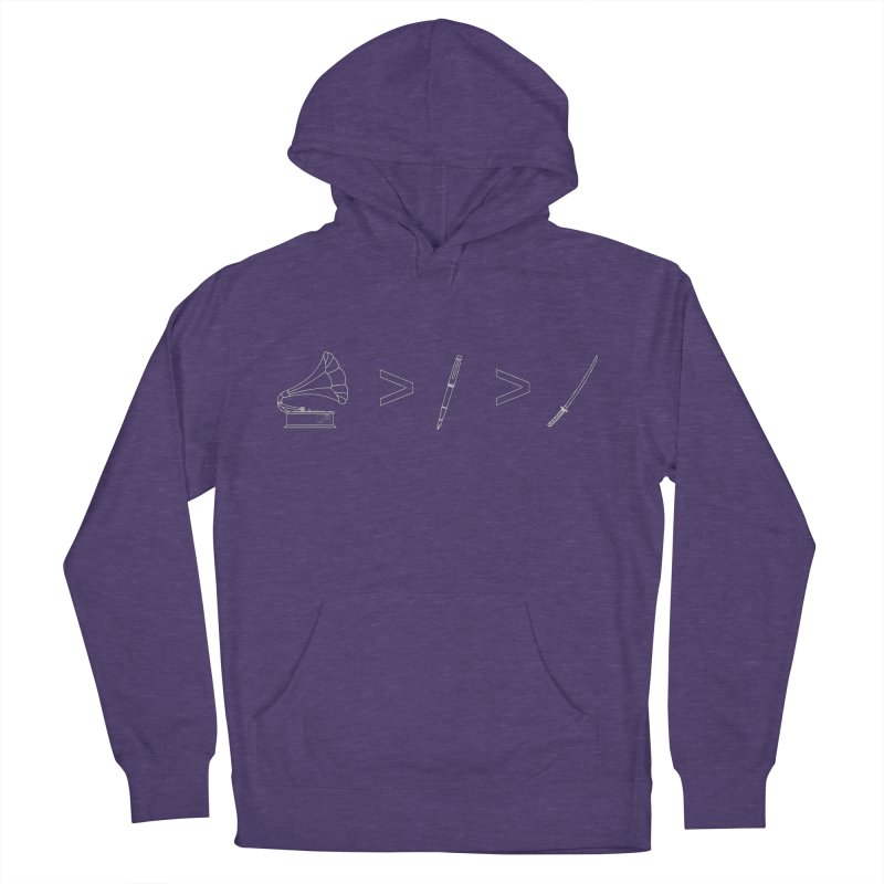 Greater Than. Light. Men's French Terry Pullover Hoody by lightclub's Artist Shop