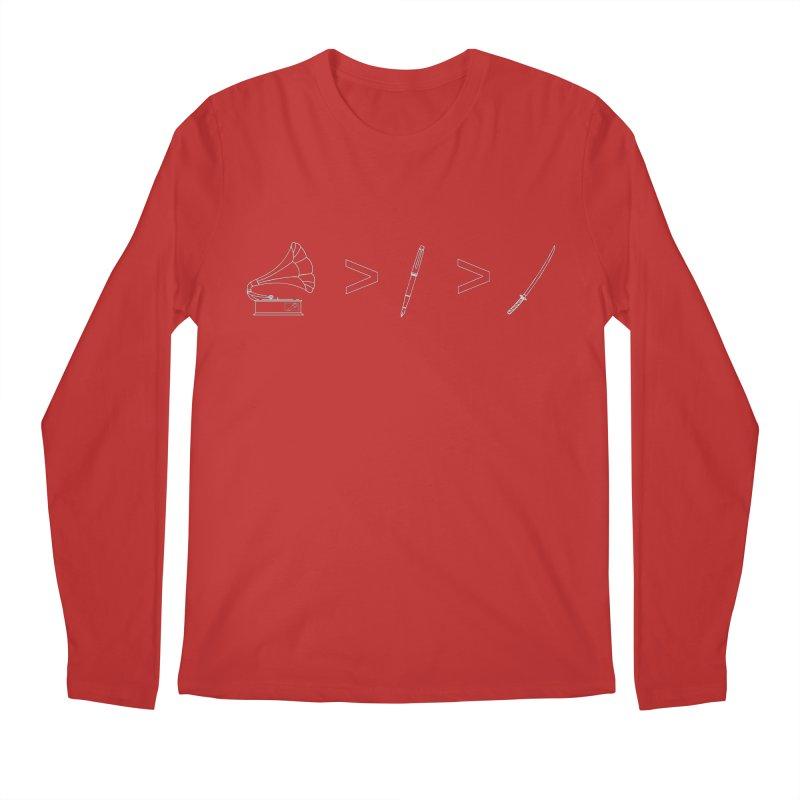 Greater Than. Light. Men's Regular Longsleeve T-Shirt by lightclub's Artist Shop