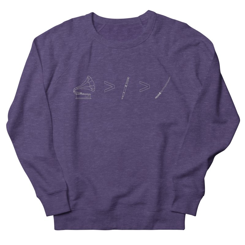 Greater Than. Light. Women's French Terry Sweatshirt by lightclub's Artist Shop