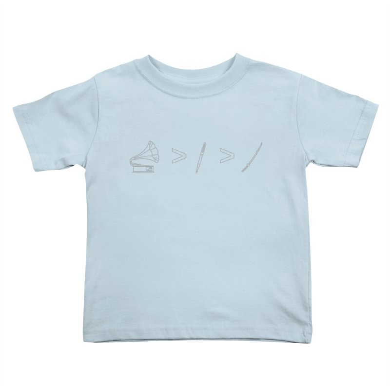 Greater Than. Light. Kids Toddler T-Shirt by lightclub's Artist Shop