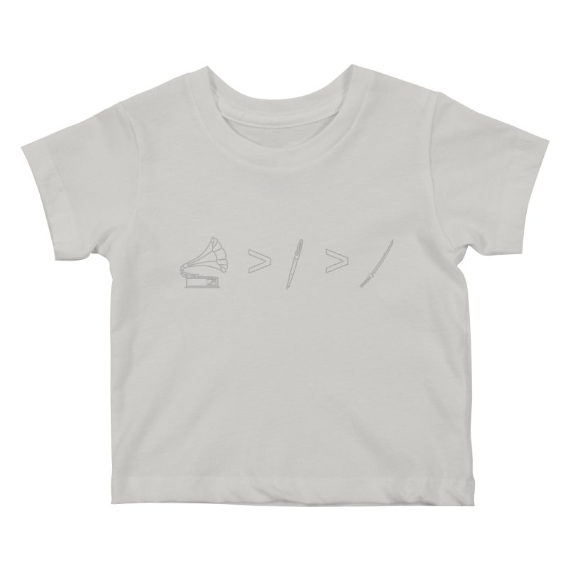 Greater Than. Light. Kids Baby T-Shirt by lightclub's Artist Shop