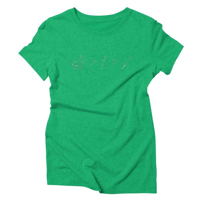 Greater Than. Light. Women's Triblend T-Shirt by lightclub's Artist Shop