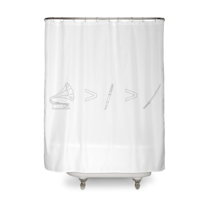 Greater Than. Light. Home Shower Curtain by lightclub's Artist Shop