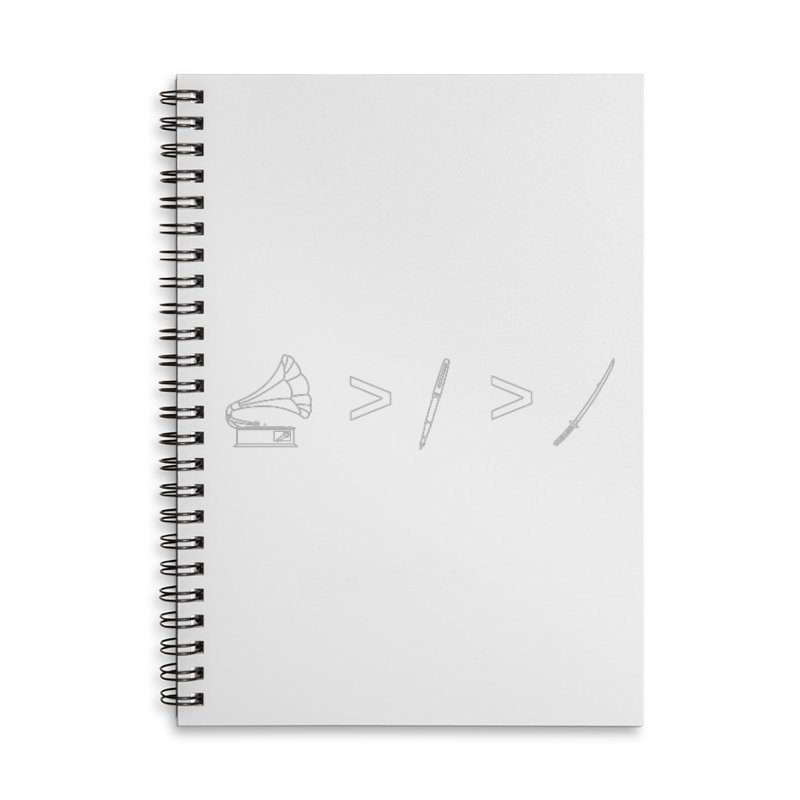Greater Than. Light. Accessories Lined Spiral Notebook by lightclub's Artist Shop