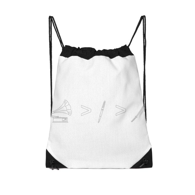 Greater Than. Light. Accessories Drawstring Bag Bag by lightclub's Artist Shop