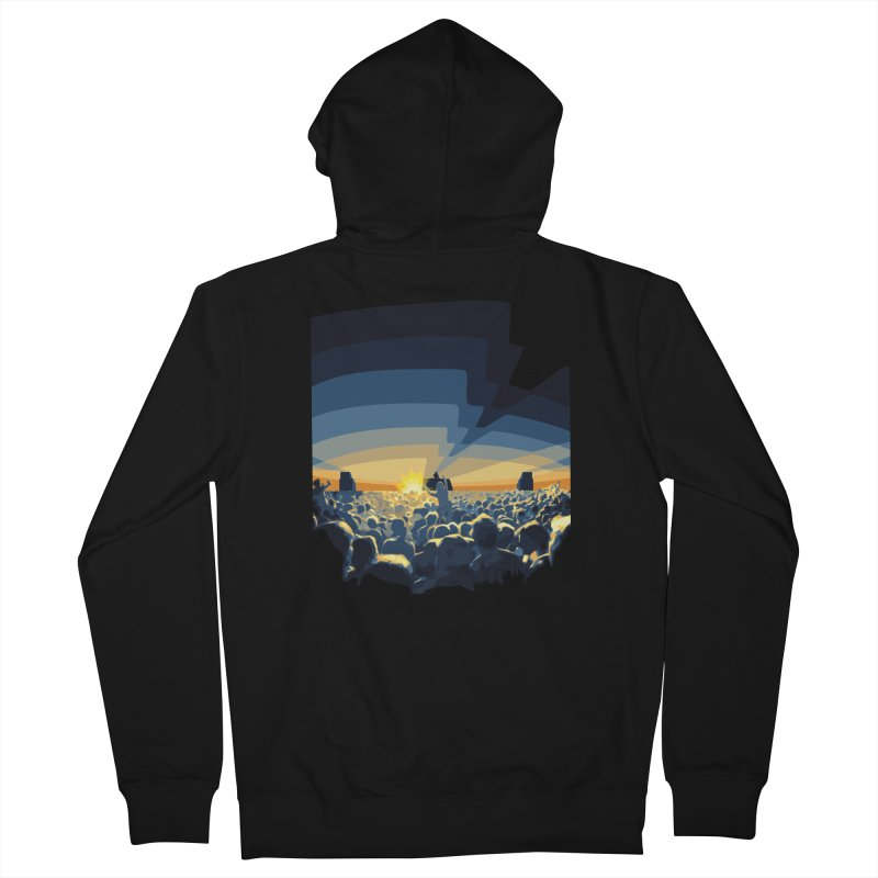 Dawn Club Men's Zip-Up Hoody by lightclub's Artist Shop