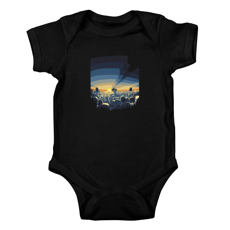 Dawn Club Kids Baby Bodysuit by lightclub's Artist Shop