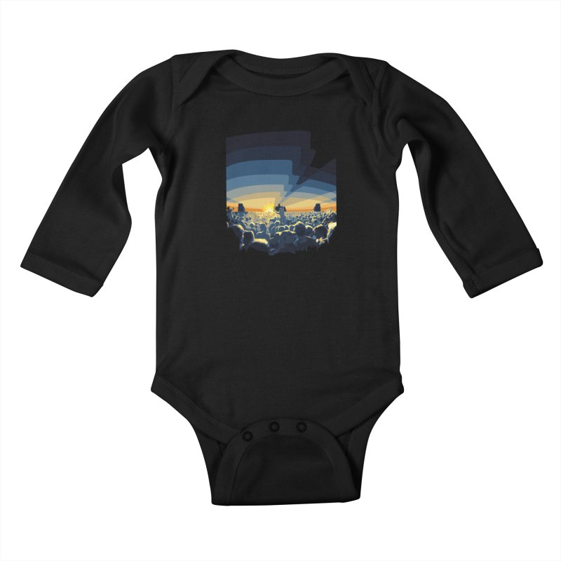 Dawn Club Kids Baby Longsleeve Bodysuit by lightclub's Artist Shop