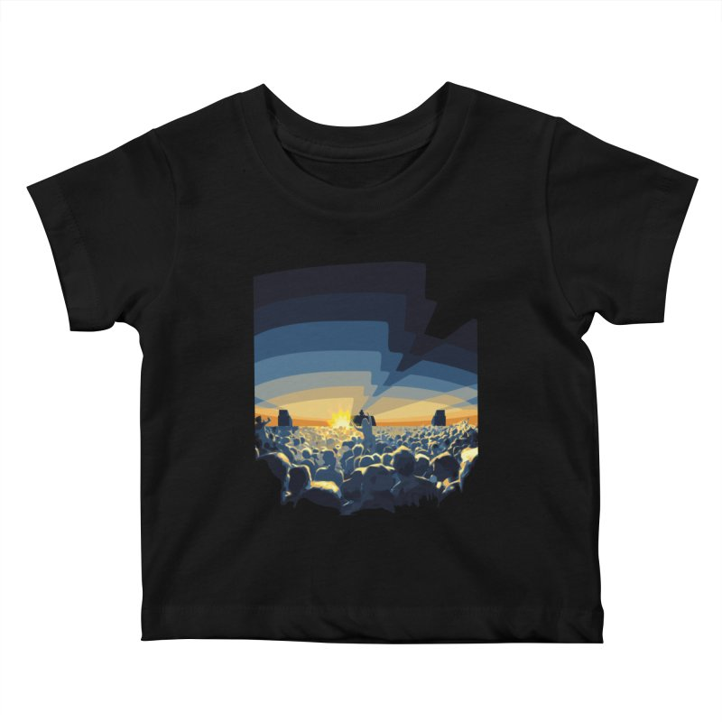 Dawn Club Kids Baby T-Shirt by lightclub's Artist Shop