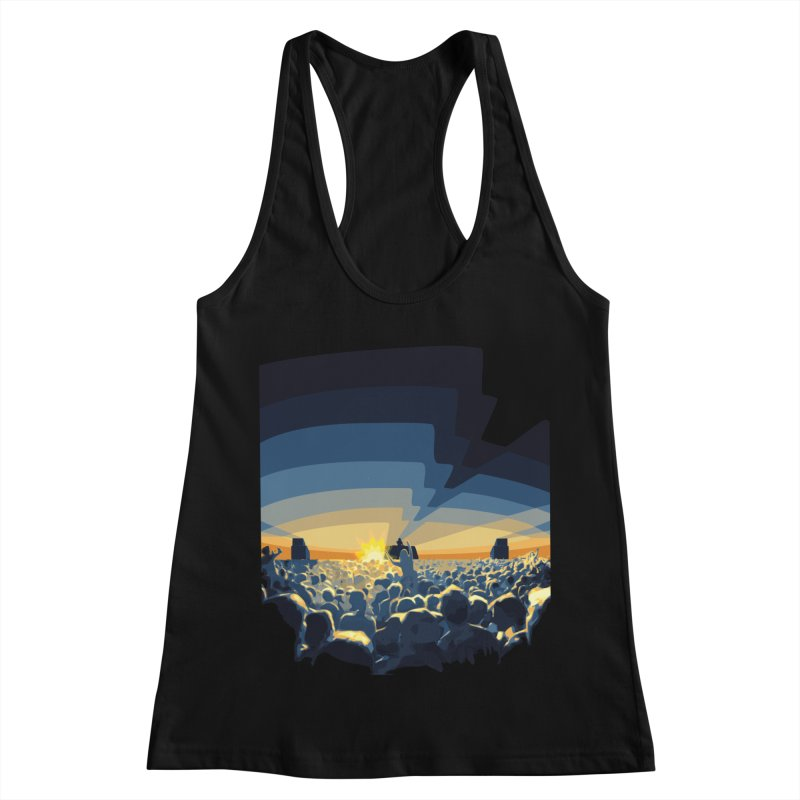 Dawn Club Women's Racerback Tank by lightclub's Artist Shop