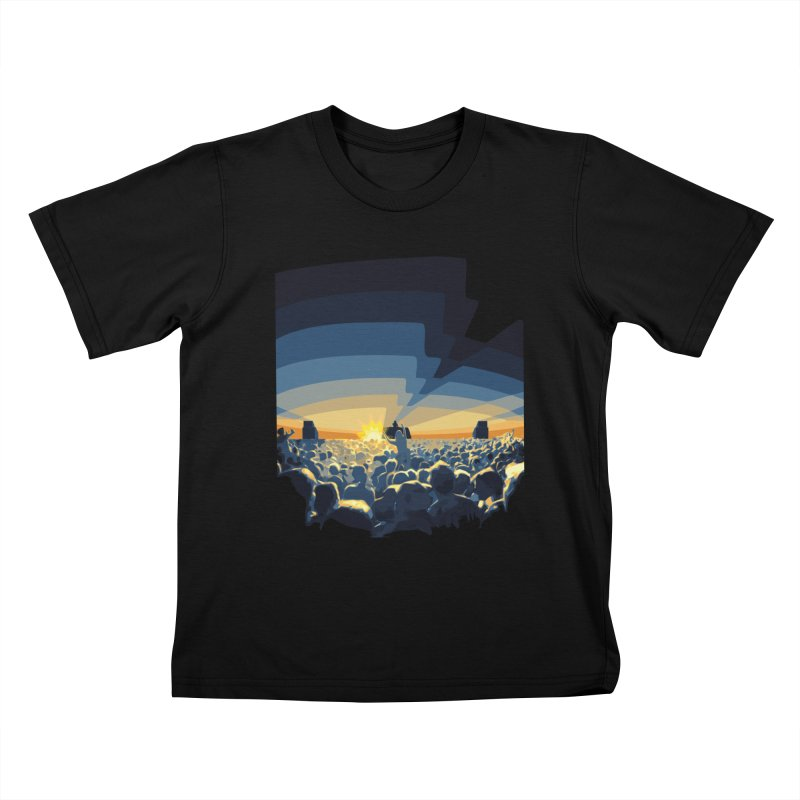 Dawn Club Kids T-Shirt by lightclub's Artist Shop