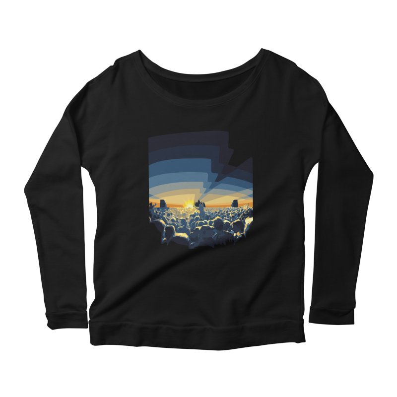 Dawn Club Women's Longsleeve Scoopneck  by lightclub's Artist Shop