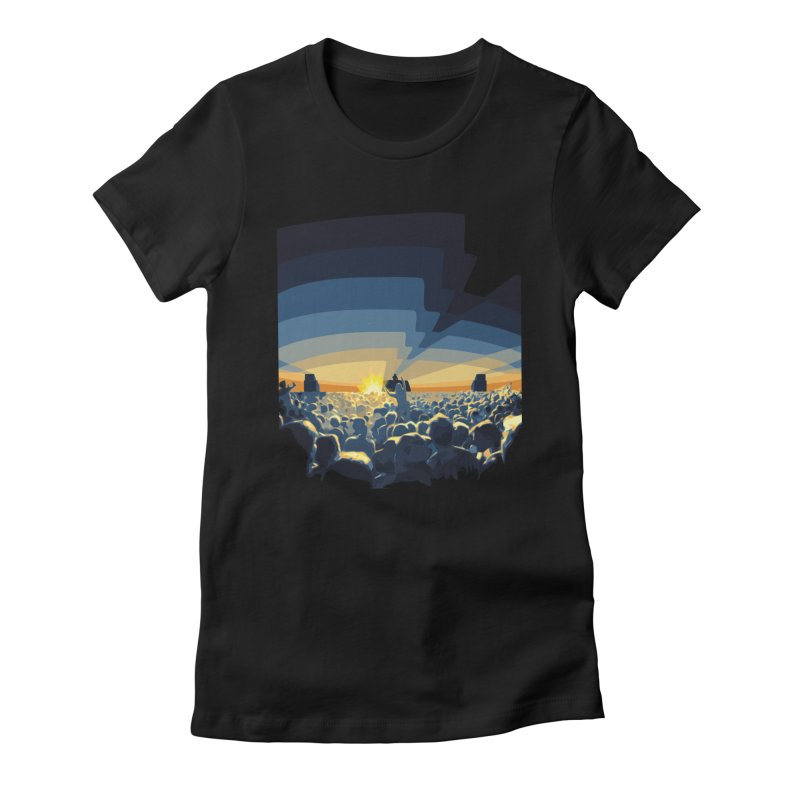 Dawn Club Women's Fitted T-Shirt by lightclub's Artist Shop