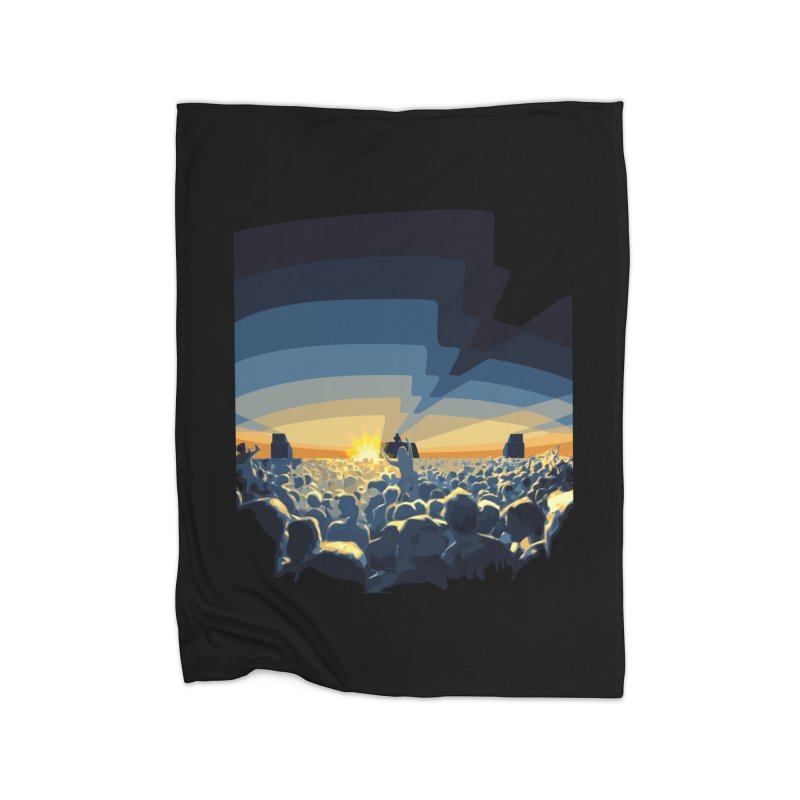 Dawn Club Home Fleece Blanket Blanket by lightclub's Artist Shop