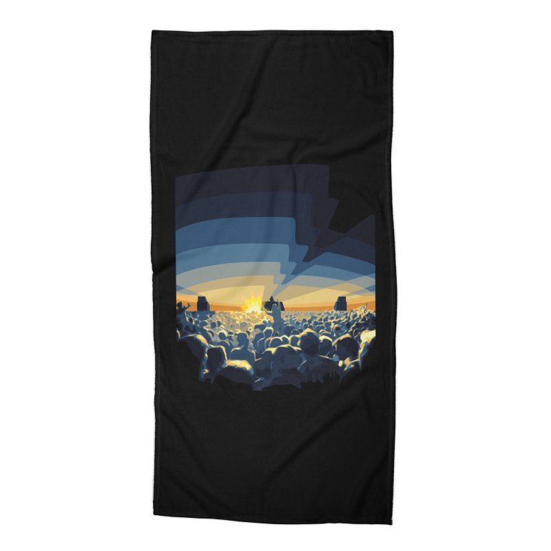 Dawn Club Accessories Beach Towel by lightclub's Artist Shop