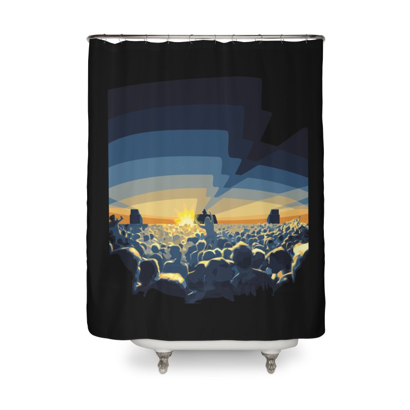 Dawn Club Home Shower Curtain by lightclub's Artist Shop
