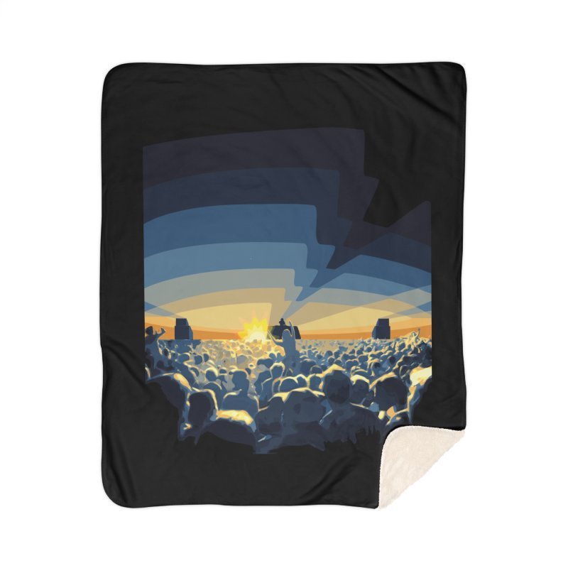 Dawn Club Home Sherpa Blanket Blanket by lightclub's Artist Shop
