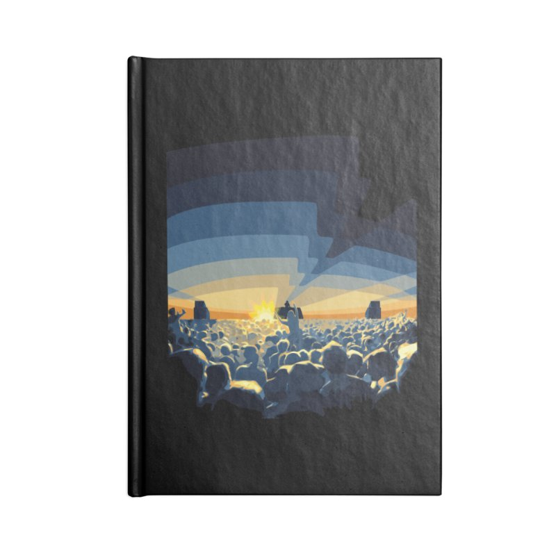 Dawn Club Accessories Lined Journal Notebook by lightclub's Artist Shop