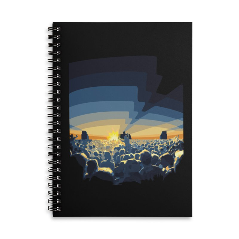 Dawn Club Accessories Lined Spiral Notebook by lightclub's Artist Shop