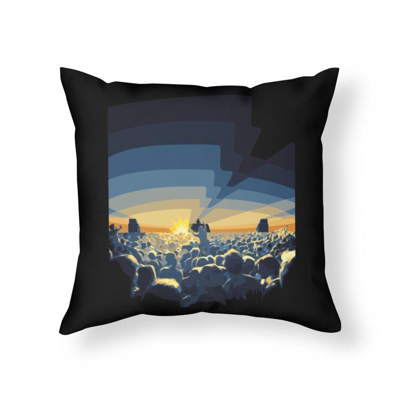 Dawn Club Home Throw Pillow by lightclub's Artist Shop