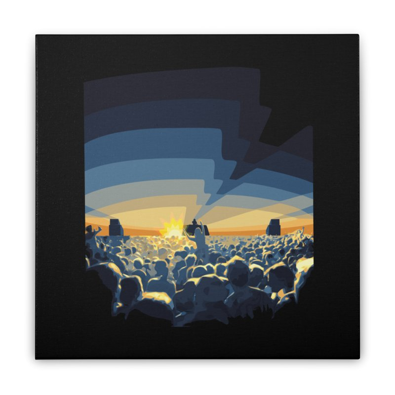 Dawn Club Home Stretched Canvas by lightclub's Artist Shop