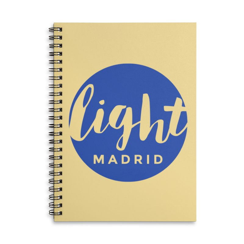 Blue Logo Accessories Lined Spiral Notebook by Light Madrid Gear