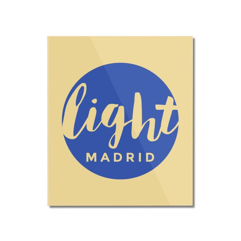 Blue Logo Home Mounted Acrylic Print by Light Madrid Gear