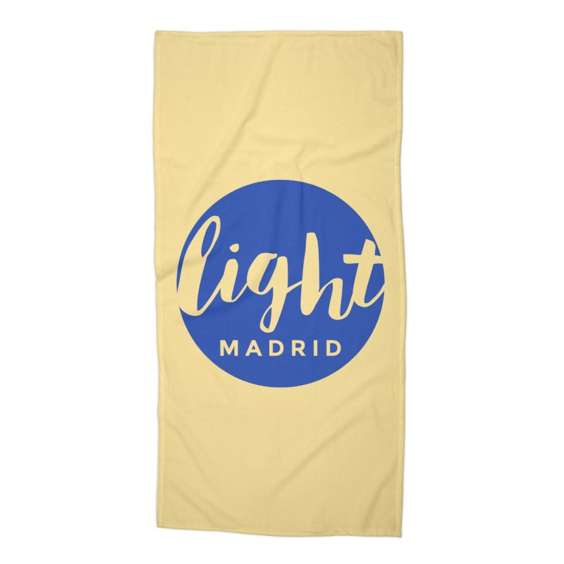 Blue Logo Accessories Beach Towel by Light Madrid Gear