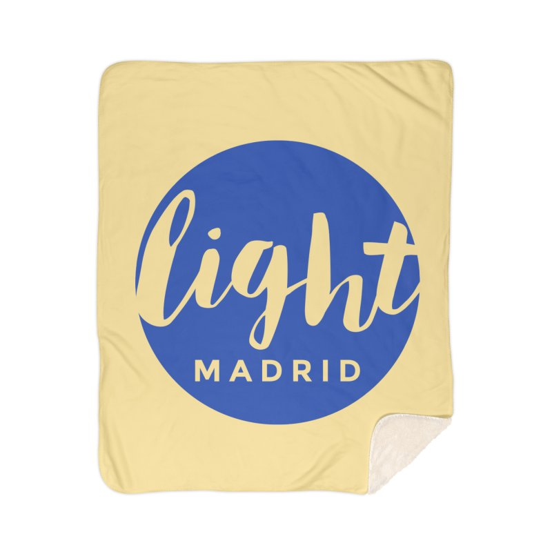 Blue Logo Home Sherpa Blanket Blanket by Light Madrid Gear