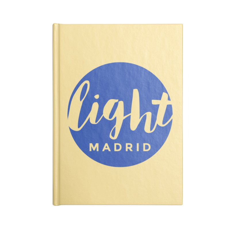 Blue Logo Accessories Lined Journal Notebook by Light Madrid Gear