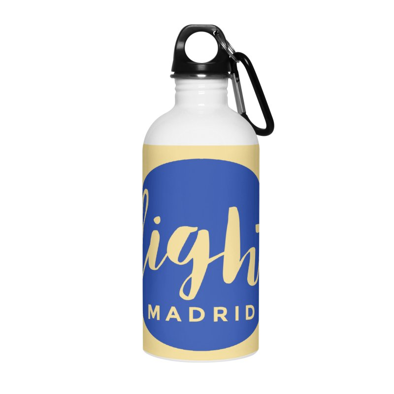 Blue Logo Accessories Water Bottle by Light Madrid Gear