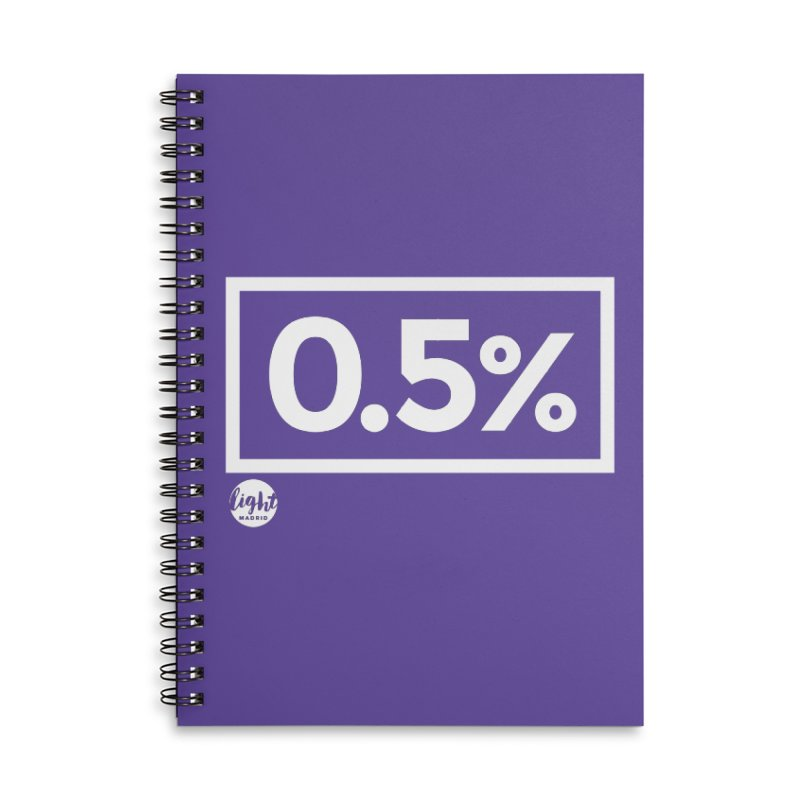 Only 0.5% Truly Know Jesus Accessories Lined Spiral Notebook by Light Madrid Gear