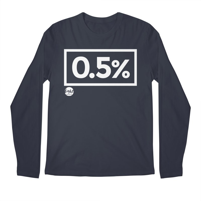 Only 0.5% Truly Know Jesus Men's Regular Longsleeve T-Shirt by Light Madrid Gear
