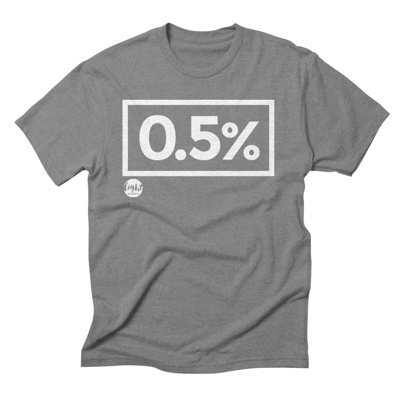 Only 0.5% Truly Know Jesus Men's Triblend T-Shirt by Light Madrid Gear