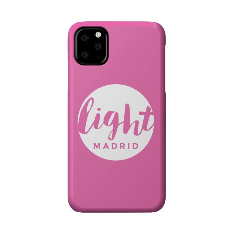 White Logo Accessories Phone Case by Light Madrid Gear