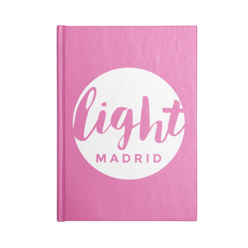 White Logo Accessories Lined Journal Notebook by Light Madrid Gear