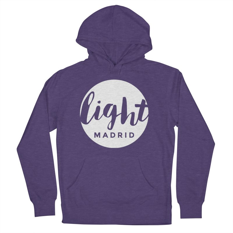 White Logo Women's French Terry Pullover Hoody by Light Madrid Gear