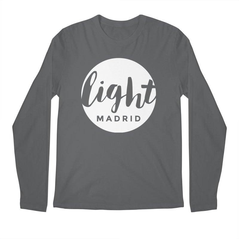 White Logo Men's Regular Longsleeve T-Shirt by Light Madrid Gear