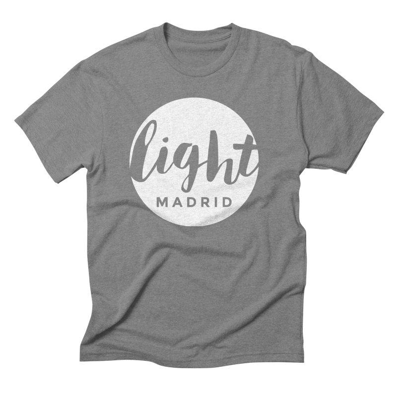 White Logo Men's Triblend T-Shirt by Light Madrid Gear