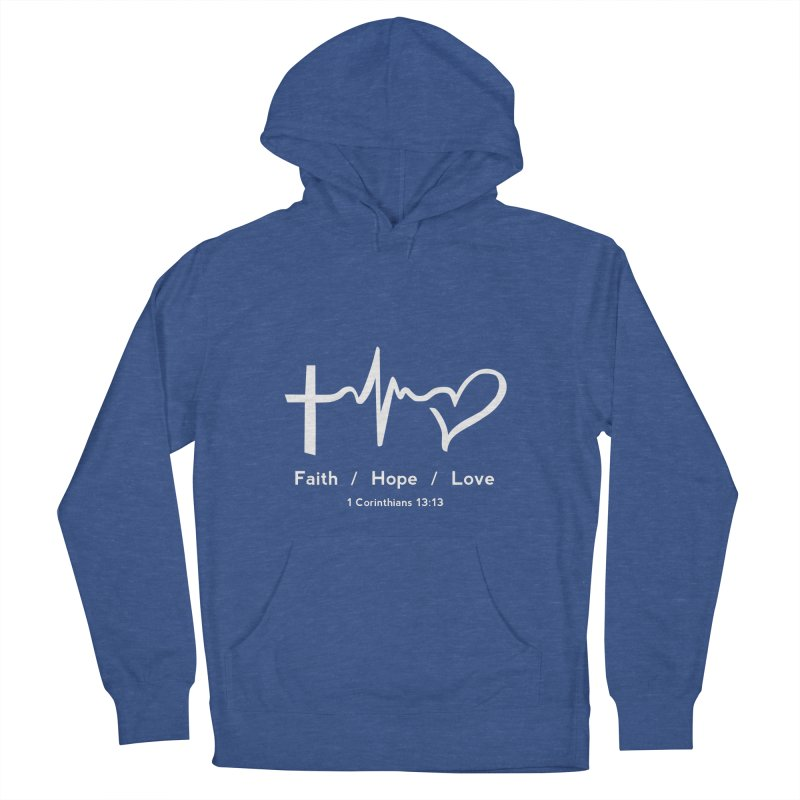 Faith, Hope, Love - White Men's Pullover Hoody by Light of the World Tees