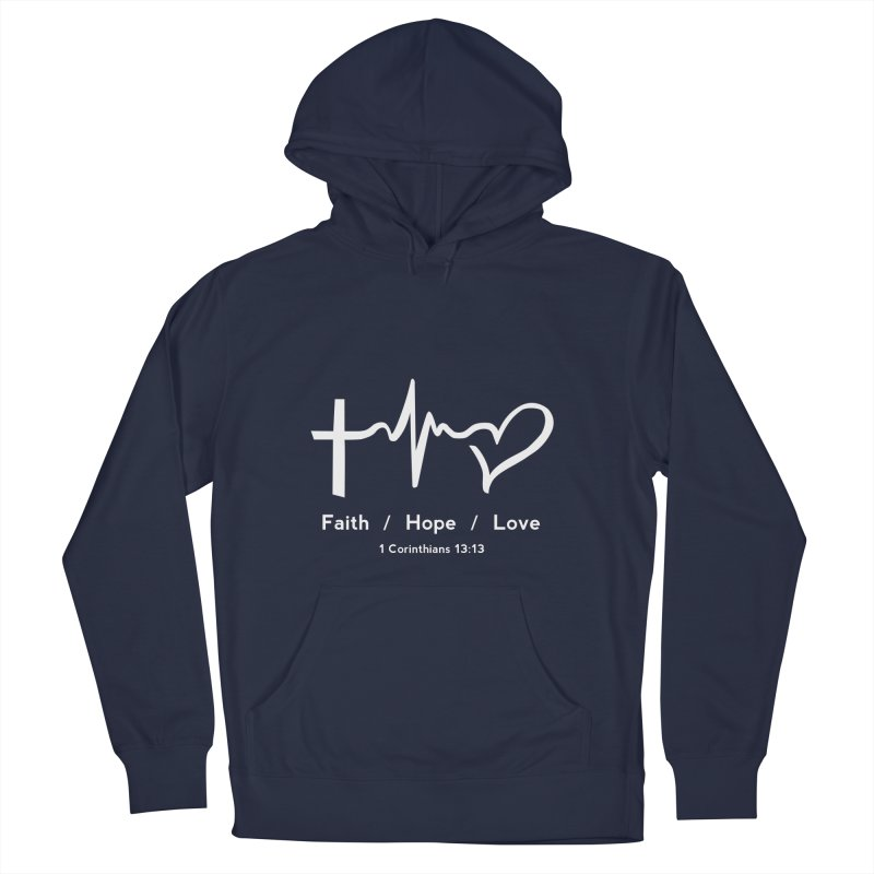 Faith, Hope, Love - White Men's Pullover Hoody by Light of the World Tees