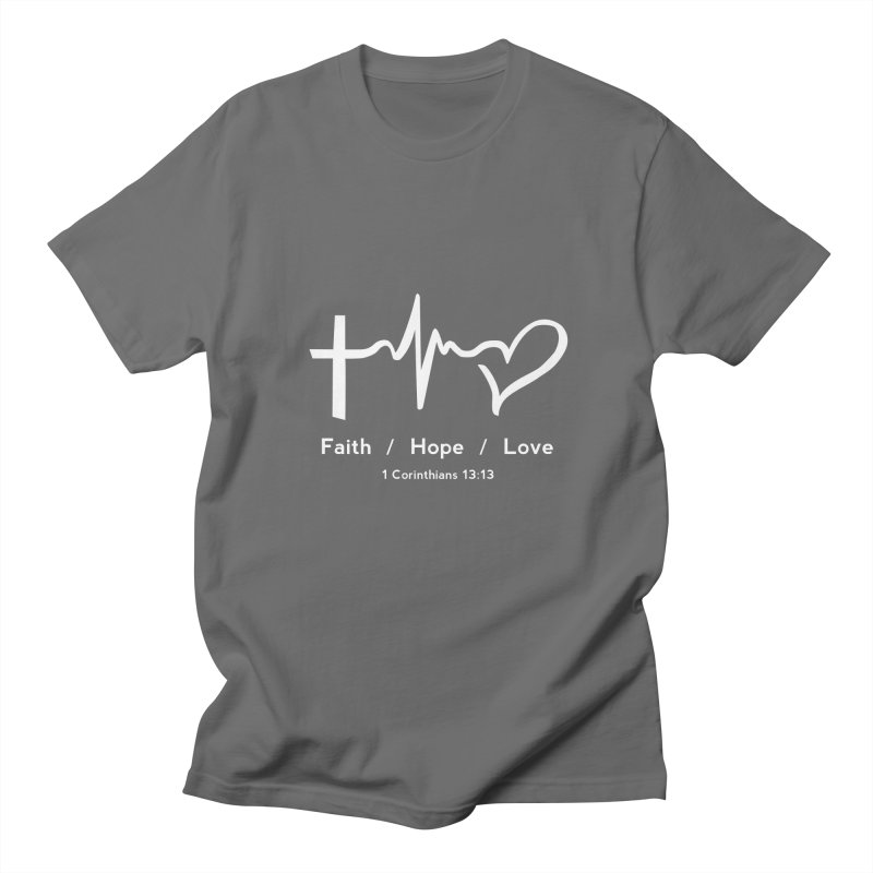 Faith, Hope, Love - White Men's T-Shirt by Light of the World Tees