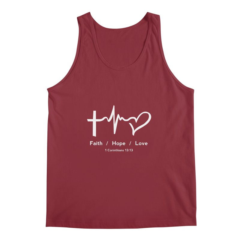 Faith, Hope, Love - White Men's Regular Tank by Light of the World Tees