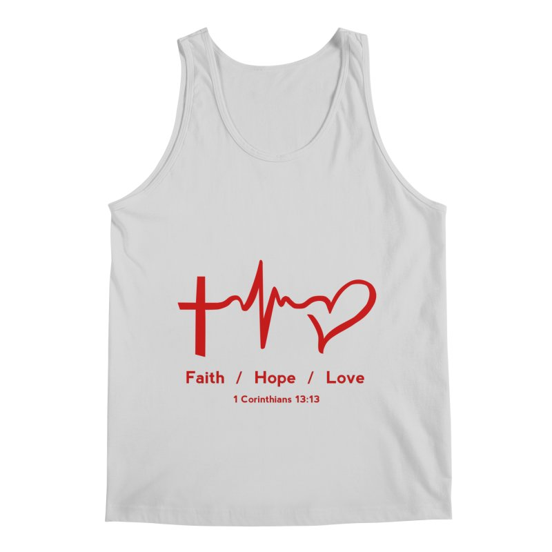Faith, Hope, Love - Red Men's Regular Tank by Light of the World Tees