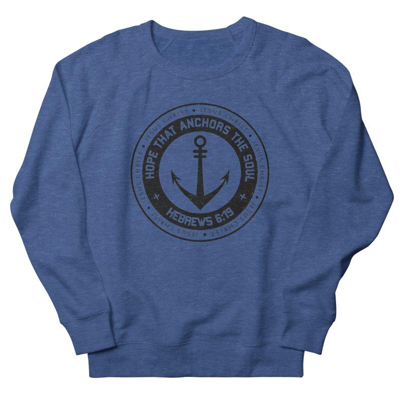 Hebrews 6:19 - Black Men's Sweatshirt by Light of the World Tees