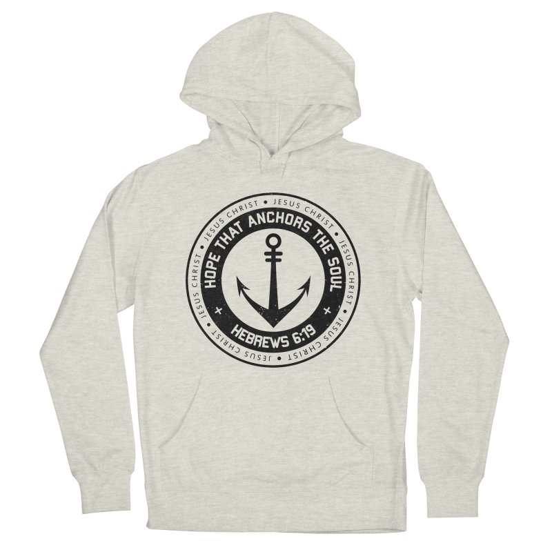Hebrews 6:19 - Black Women's French Terry Pullover Hoody by Light of the World Tees