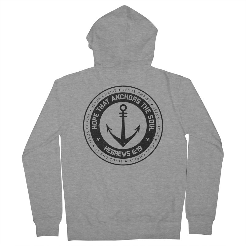 Hebrews 6:19 - Black Women's French Terry Zip-Up Hoody by Light of the World Tees