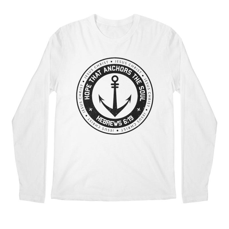 Hebrews 6:19 - Black Men's Regular Longsleeve T-Shirt by Light of the World Tees