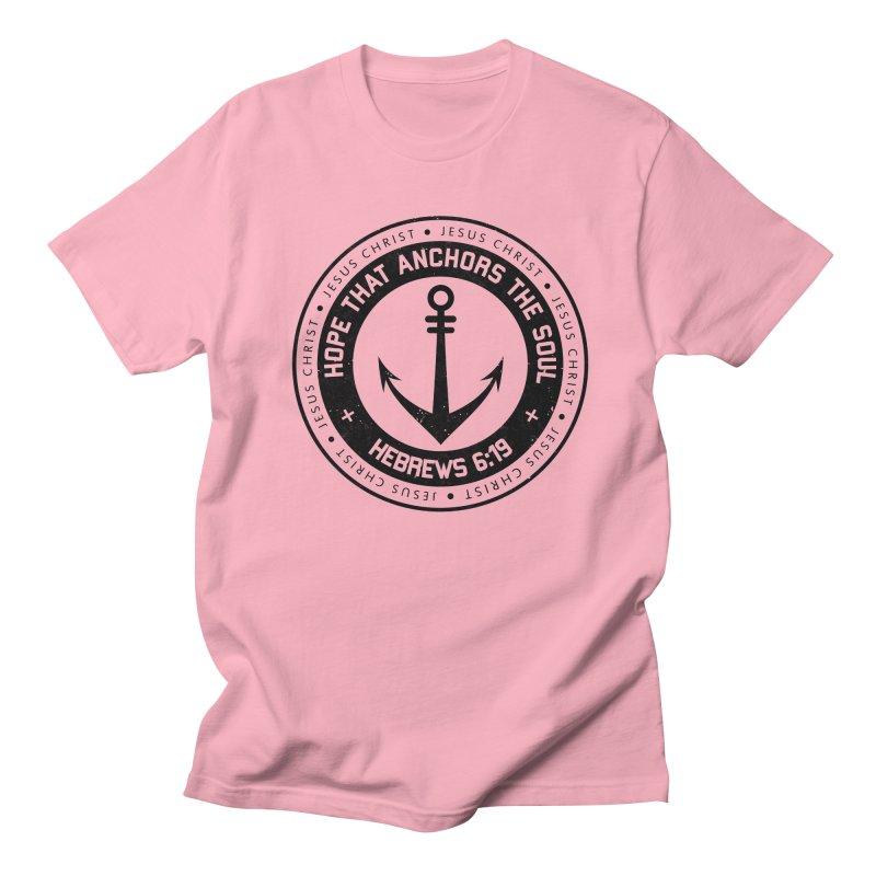 Hebrews 6:19 - Black Men's Regular T-Shirt by Light of the World Tees